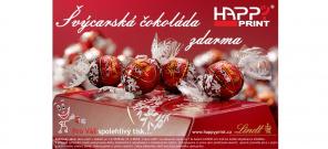 Švýcarská čokoláda LINDT ke každé objednávce tonerů ZDARMA!